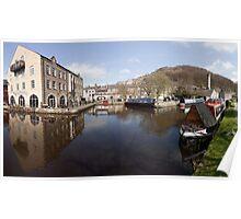 Spring at Hebden Bridge Canal Basin Poster