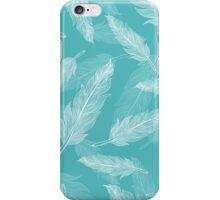 Vintage seamless feathers pattern  iPhone Case/Skin