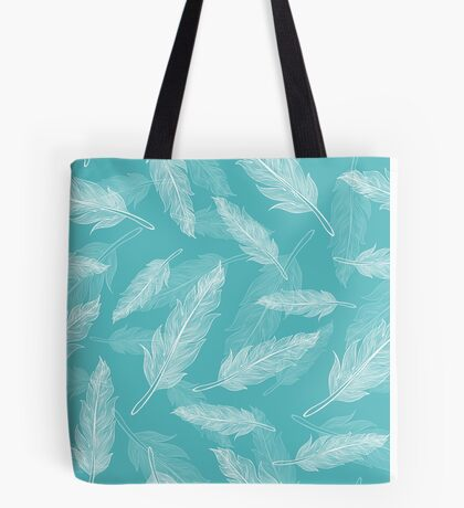 Vintage seamless feathers pattern  Tote Bag