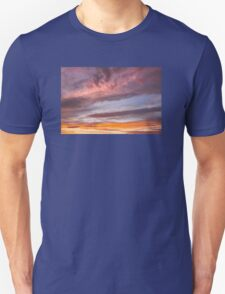 Colorful Orange Yellow Clouds At Sunset T-Shirt