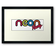 Neon Racing Framed Print