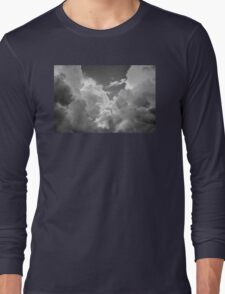 Black And white Sky With Dramatic Storm Clouds Long Sleeve T-Shirt