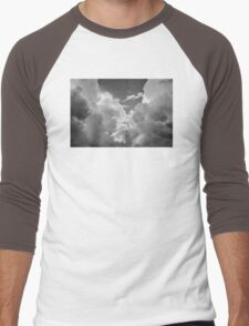 Black And white Sky With Dramatic Storm Clouds Men's Baseball ¾ T-Shirt