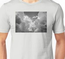 Black And white Sky With Dramatic Storm Clouds Unisex T-Shirt