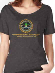 Winners Don't Eat Meat - Scott Pilgrim inspired Vegan Police Logo (transparent version) Women's Relaxed Fit T-Shirt
