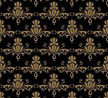 Fleurette~Gold on Black by Larry McFarland