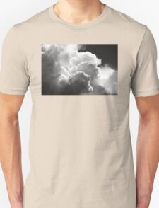 Black And white Sky With Building Puffy Storm Clouds T-Shirt