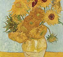 Still Life: Vase with Twelve Sunflowers by Vincent van Gogh by Robert Partridge