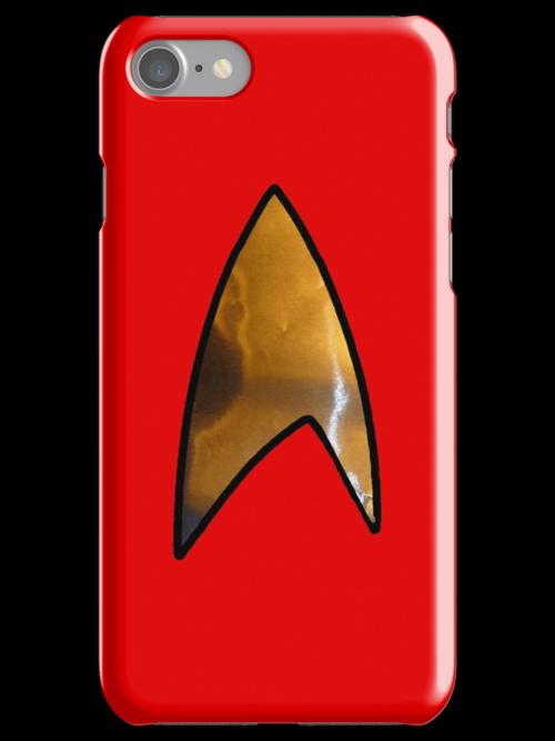 Star Trek red iphone by Margaret Bryant
