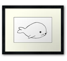 Baby seal! Framed Print
