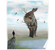Surreal Self Portrait- Digital Painting and Photomanipulation Poster