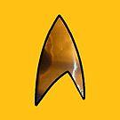 Star Trek iphone gold by Margaret Bryant