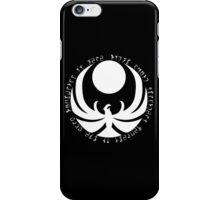The Nightingale Symbol - White Daedric writings iPhone Case/Skin