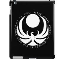 The Nightingale Symbol - White Daedric writings iPad Case/Skin