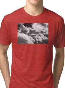 Black And white Sky With Building Storm Clouds Tri-blend T-Shirt
