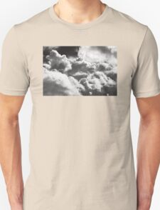 Black And white Sky With Building Storm Clouds T-Shirt