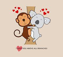 Koala-Monkey Love Womens Fitted T-Shirt