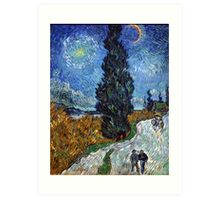 Road with Cypress and Star by Vincent van Gogh Art Print