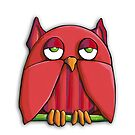 Red Owl iPhone Case by Mariana Musa