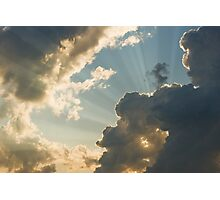 Dramatic Sunbeams And Storm Clouds in Maine Photographic Print