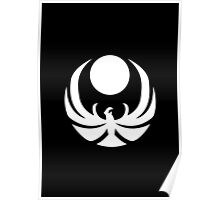 The Nightingale Symbol - White Simple Poster