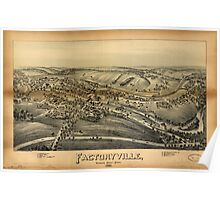 Panoramic Maps Factoryville Wyoming County Penn'a Poster