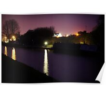 Canal by Night Poster