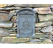 The Grey Irish Post Box Photographic Print