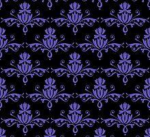 Fleurette~Grape on Black by Larry McFarland