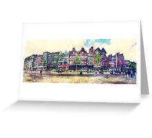 Nottingham panorama city watercolor Greeting Card