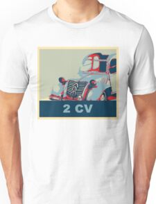 2CV French design iconic car pop art Unisex T-Shirt