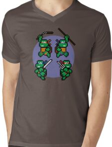 Super TMNT World Mens V-Neck T-Shirt
