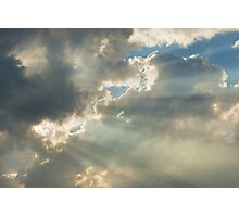 Dramatic Sunbeams And Storm Clouds Over Maine Photographic Print