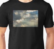 Dramatic Sunbeams And Storm Clouds Over Maine Unisex T-Shirt