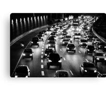 traffic at night Canvas Print