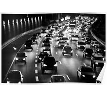 traffic at night Poster