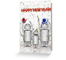 HAPPY NEW YEAR! from Cute Robo-x9 Family Greeting Card