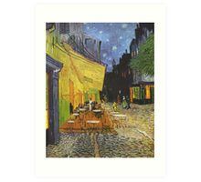 Cafe Terrace at Night by Vincent van Gogh Art Print