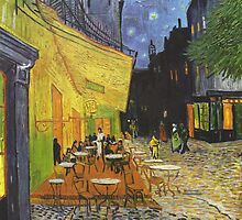 Cafe Terrace at Night by Vincent van Gogh by Robert Partridge