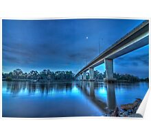 Mildura Bridge, Victoria, Australia - HDR Poster