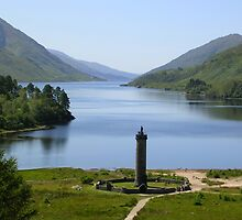 The Glenfinnan Monument and Loch Shiel by lezvee