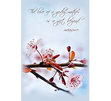 The Love of a Godly Mother (Card) Photographic Print