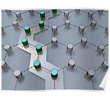 pathway through 3D-modeled interlinked nodes Poster