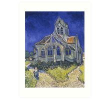 The Church at Auvers by Vincent van Gogh Art Print