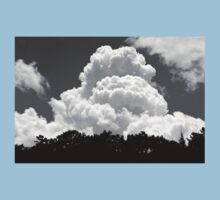 Black And white Sky With Building Thunderhead Storm Clouds Kids Tee