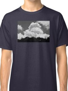 Black And white Sky With Building Thunderhead Storm Clouds Classic T-Shirt