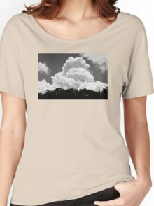 Black And white Sky With Building Thunderhead Storm Clouds Women's Relaxed Fit T-Shirt