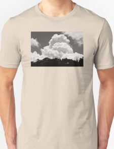 Black And white Sky With Building Thunderhead Storm Clouds T-Shirt