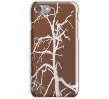 negative close barren tree iPhone Case/Skin