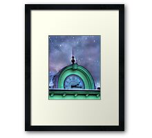 Bank Clock Framed Print